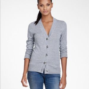 Tory Burch Gray Wool Cardigan